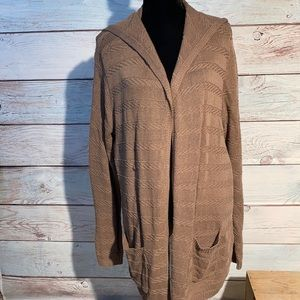 COPY - - XL Sonoma sweater duster. Light brown lo…